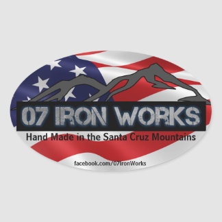"07 Iron Works ""Old Glory"" Oval Sticker"