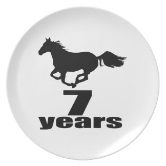 07 Years Birthday Designs Plate
