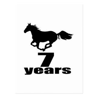 07 Years Birthday Designs Postcard