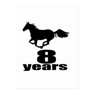 08 Years Birthday Designs Postcard