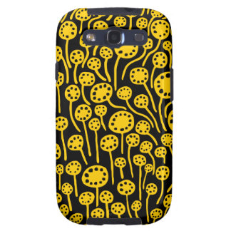 090512 Amber on Black Samsung Galaxy S3 Covers