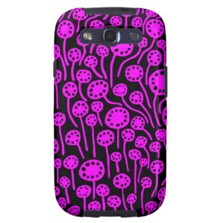 090512 Magenta on Black Galaxy S3 Cover