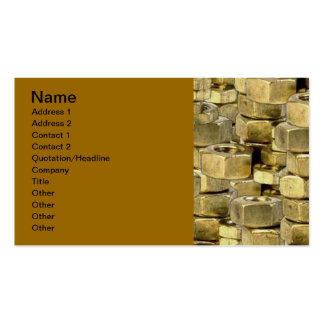 092106-nuts BLING GOLD TOUGH GANGSTER MECHANICS RA Pack Of Standard Business Cards