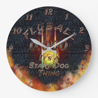 0.000 Flyball Flamz: It's A Start Dog Thing! Large Clock