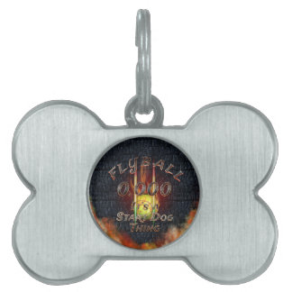 0.000 Flyball Flamz: It's A Start Dog Thing! Pet Tag