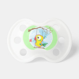 0-6 months BooginHead® Pacifier with parrot