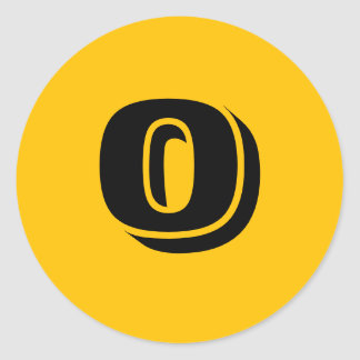 0 Large Round Gold Number Stickers by Janz