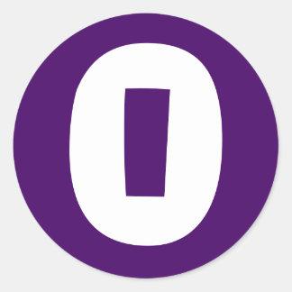 0 Large Round Purple Stickers by Janz