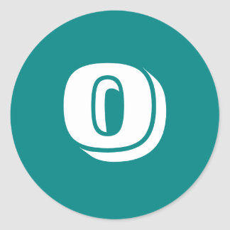 0 Large Round Teal Stickers by Janz