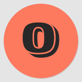 0 Large Round Tomato Red Number Stickers by Janz