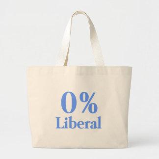 0% Liberal Blue Jumbo Tote Bag