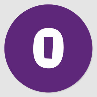 0 Small Round Purple Stickers by Janz