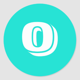 0 Small Round Turquoise Stickers by Janz