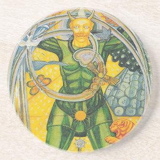 0. The Fool - Thoth Tarot Coaster