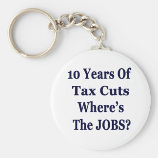 !0 Years of The Bush Tax Cuts for the Wealthy Basic Round Button Key Ring