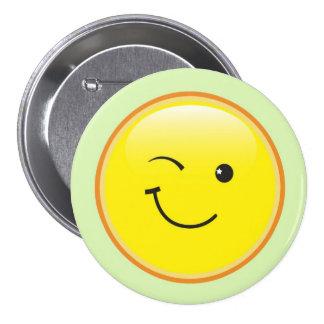 0smiley_winking 7.5 cm round badge