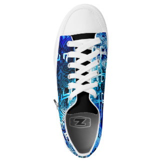 1001 Lights Pattern (blue) Printed Shoes