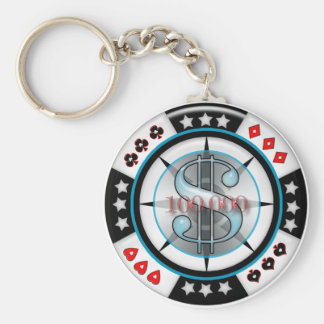 $100,000. Poker Chip Key Ring