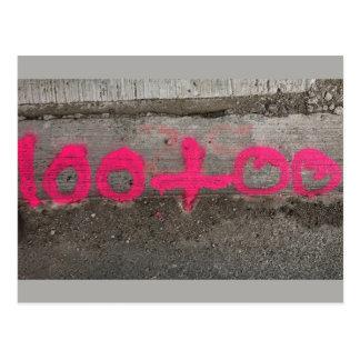 100+00 Survey/Construction Stationing - Postcard