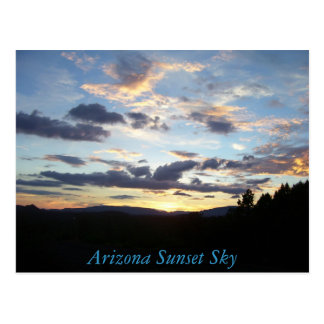 100_5037, Arizona Sunset Sky Postcard