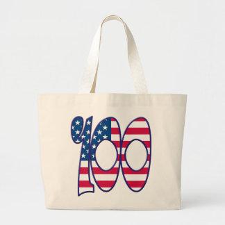 100 Age USA Jumbo Tote Bag