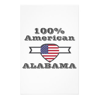 100% American, Alabama Stationery