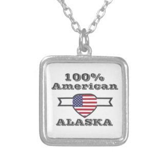 100% American, Alaska Silver Plated Necklace