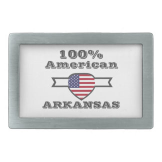 100% American, Arkansas Rectangular Belt Buckles
