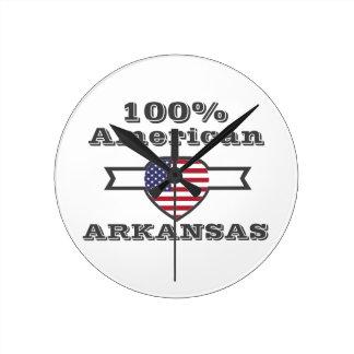 100% American, Arkansas Round Clock