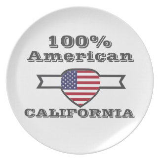 100% American, California Party Plates