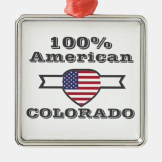 100% American, Colorado Metal Ornament