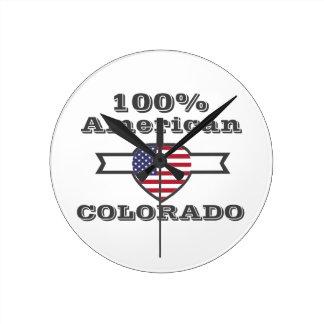 100% American, Colorado Round Clock