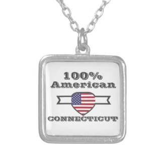 100% American, Connecticut Silver Plated Necklace