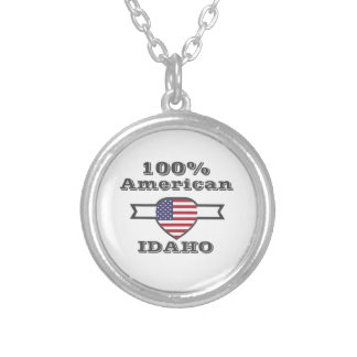 100% American, Idaho Silver Plated Necklace