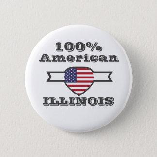 100% American, Illinois 6 Cm Round Badge