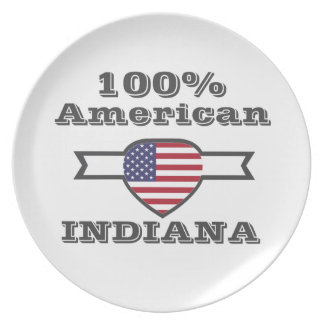 100% American, Indiana Party Plates