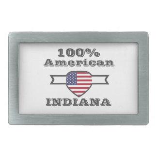 100% American, Indiana Rectangular Belt Buckle