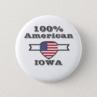 100% American, Iowa 6 Cm Round Badge