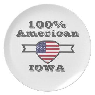 100% American, Iowa Plate