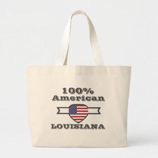 100% American, Louisiana Large Tote Bag