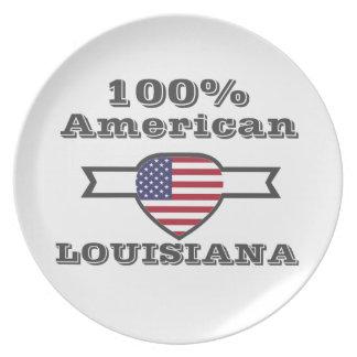 100% American, Louisiana Party Plates