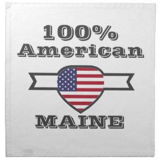 100% American, Maine Napkin