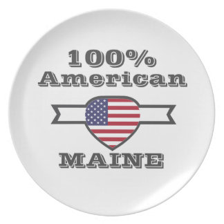 100% American, Maine Party Plate