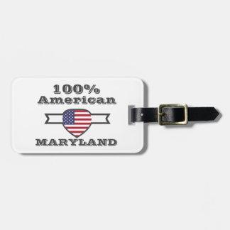 100% American, Maryland Luggage Tag