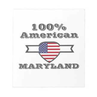 100% American, Maryland Notepad