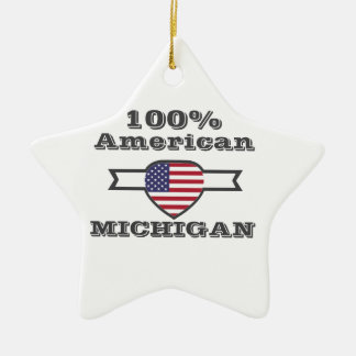 100% American, Michigan Ceramic Star Decoration