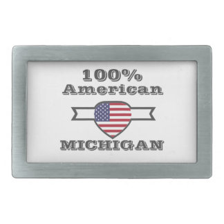 100% American, Michigan Rectangular Belt Buckle