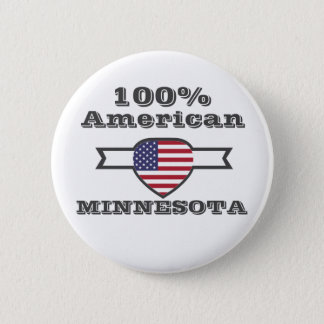 100% American, Minnesota 6 Cm Round Badge