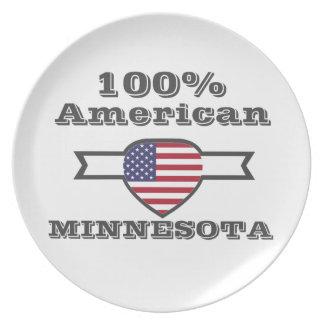 100% American, Minnesota Plate