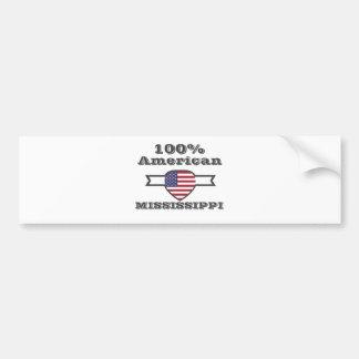 100% American, Mississippi Bumper Sticker